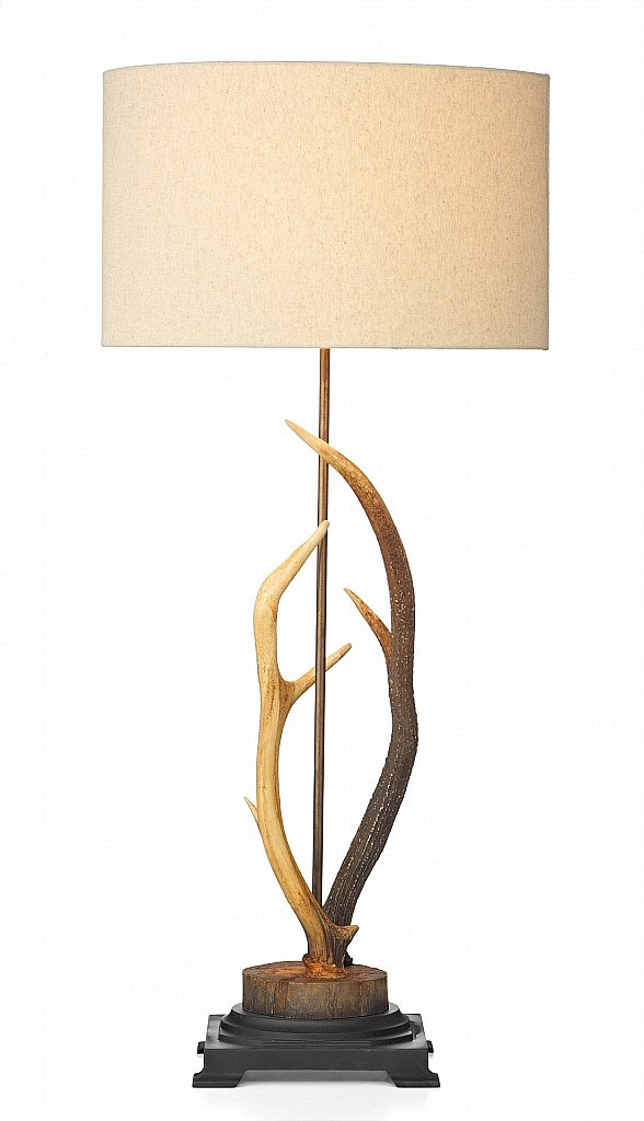 Dar Lighting - Antler  Table Lamp complete with Cream Shade