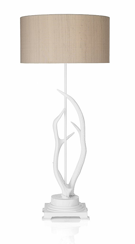 Dar Lighting - Antler Table Lamp complete with Taupe Shade