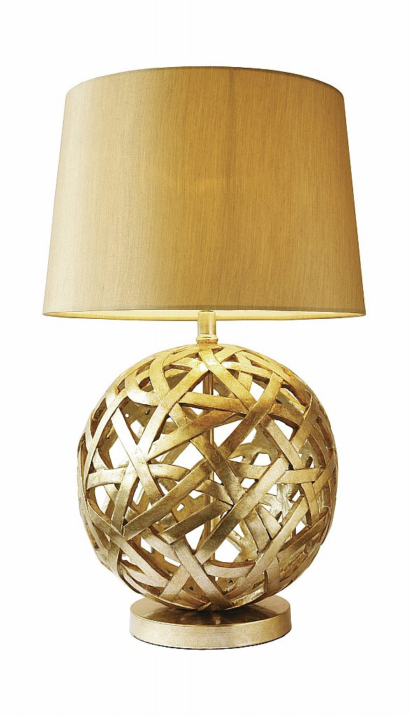Dar Lighting - Balthazar Table Lamp complete with Gold Shade
