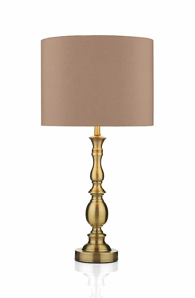 Dar Lighting - Madrid Ball Table Lamp in Antique Brass
