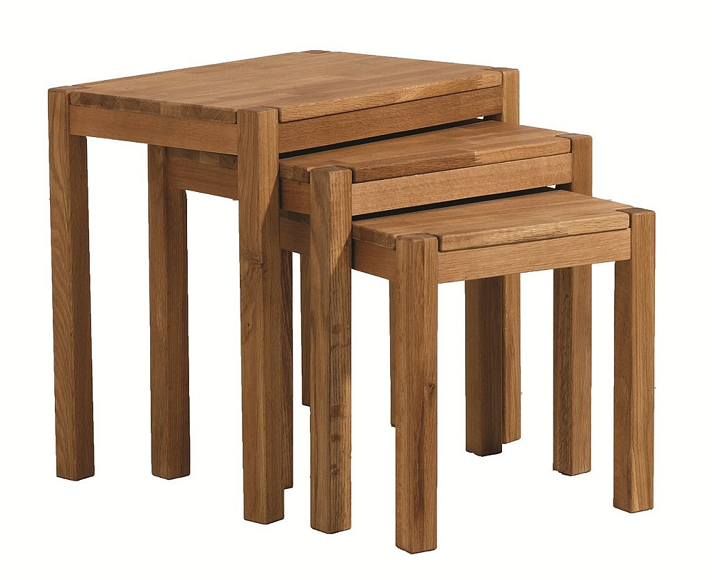 Unique - Royal Oak Nest Of Tables