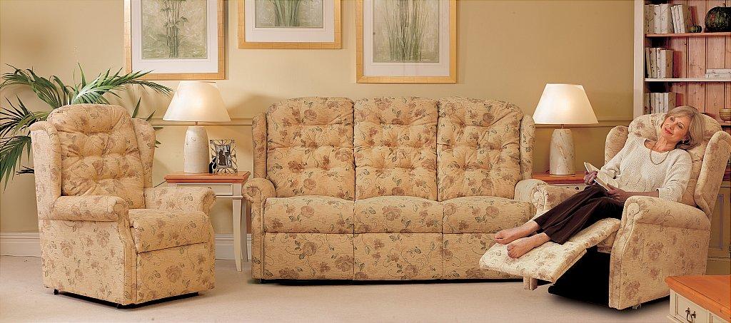 Celebrity Woburn Legged Fixed 2str Sofa - Riser Recliner