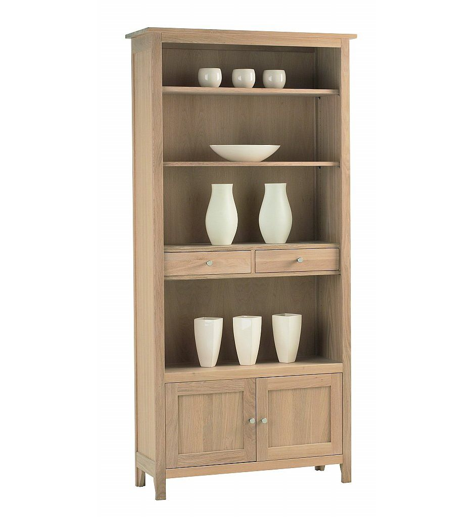 Corndell - Nimbus Large Bookcase with Cupboard & Drawers