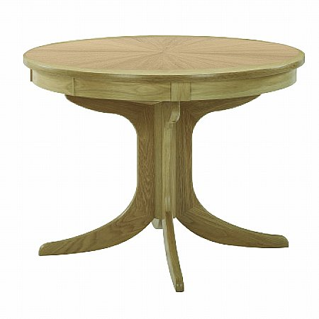 Nathan - Shades Oak Circular Pedestal Dining Table