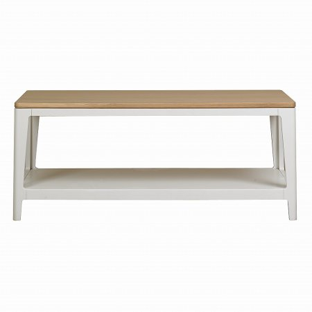 The Smith Collection - Geo Painted White Coffee Table