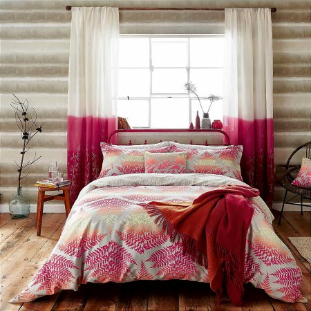 Bedeck - Clarissa Hulse Filix Bedding in Coral