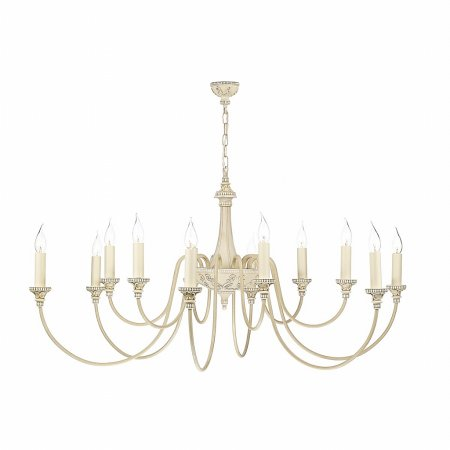David Hunt - Bailey Antique Cream 12 Light Pendant