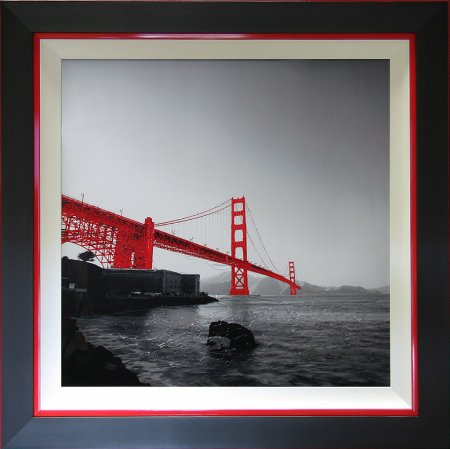 Liquid Art - Cityscapes Golden Red Rock