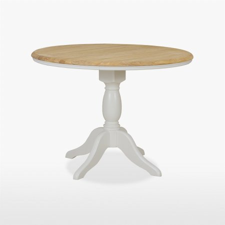 13825/Stag/Cromwell-Round-Fixed-Top-Dining-Table