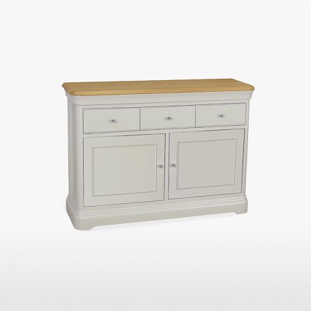 13826/Stag/Cromwell-Small-2-Door-3-Drawer-Sideboard
