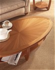 Shades Sunburst Top Oval Coffee Table: Banded Sunburst Top <br />Code: 5844<br />Dimensions:<br />H 46cm W 120cm D ...click for more