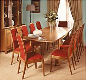 Shades Dining Set: The latest teak collection features unique styling, soft curves and contemp ...click for more