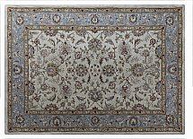 Flooring One Buckingham Zeigler Ivory Blue Rug