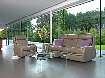 G Plan Upholstery Eton Leather Sofa and Chair