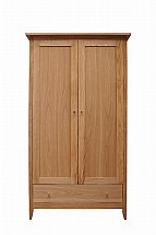 Vale Furnishers - Tonino Double Wardrobe with Drawer