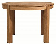Vale Furnishers - Vale Oak Round Dining Table