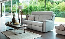 G Plan Upholstery Maple 3 Seater Leather Sofa