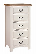 Vale Furnishers - Bedrooms - Chateaux Five Drawer Tall Chest