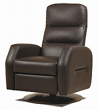 Cintique - Trieste Leather Swivel Recliner