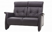 Vale Furnishers - Sofas - Sleek Two Seater Leather Sofa