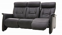 Vale Furnishers - Sofas - Sleek Three Seater Leather Sofa