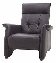 Vale Furnishers - Sofas - Sleek Leather Armchair
