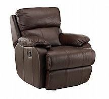 Vale Furnishers - Sofas - Jake Leather Armchair Manual Recliner