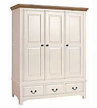 Vale Furnishers - Bedrooms - Chateaux Three Door Wardrobe
