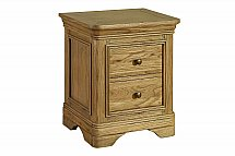 Vale Furnishers - Bedrooms - Rosina Two Drawer Bedside Unit