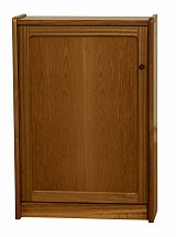 Nathan - Teak Collection Classic Media Storage Unit with Door