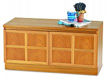 Nathan - Teak Collection Classic Double Low Storage Unit