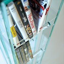 Vale Furnishers - Glass Tubular DVD and Video Stand