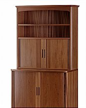 Nathan - Teak Collection Editions Tambour Workstation Desk with Tambour Top