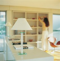 Vale Furnishers - Glass Tubular Table Lamp