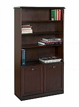 Vale Furnishers - Molesey Bookcase with Cupboard