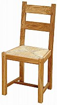 Vale Furnishers - Bordeaux Oiled Finish Low Back Dining Chair