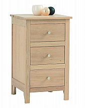 Vale Furnishers - Bedrooms - Cirrus Three Drawer Bedside Chest