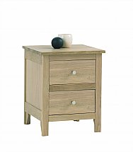 Vale Furnishers - Bedrooms - Cirrus Two Drawer Bedside Chest