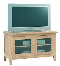 Vale Furnishers - Cirrus Glazed TV Cabinet