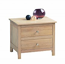 Vale Furnishers - Bedrooms - Cirrus Wide Bedside Chest