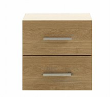 Vale Furnishers - Vale Oak Two Drawer Unit