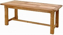 Vale Furnishers - Bordeaux Dining Table with Support Bar