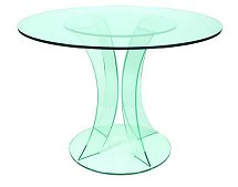 Vale Furnishers - Glass Circular Dining Table 