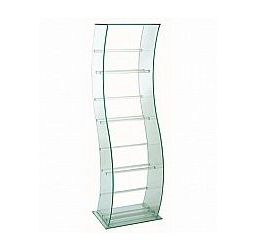 Vale Furnishers - Glass S-Shaped DVD Stand 