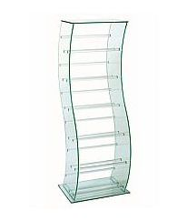 Vale Furnishers - Glass S-Shaped CD Stand