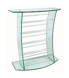 Vale Furnishers - Glass CD Stand