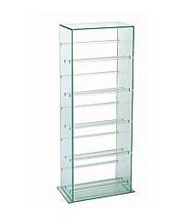 Vale Furnishers - Glass Rectangular CD Stand 