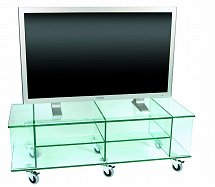 Vale Furnishers - Glass TV, Video and DVD Stand 