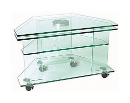 Vale Furnishers - Glass TV Table with Turning Plate