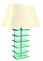 Vale Furnishers - Glass Step Lamp
